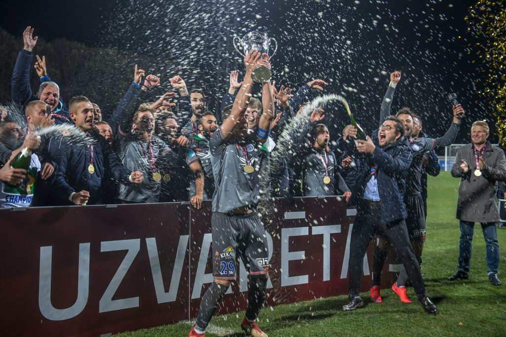 Riga FC winners of the Latvian Cup 2018
